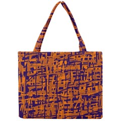 Blue And Orange Decorative Pattern Mini Tote Bag by Valentinaart