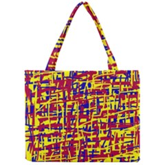 Red, Yellow And Blue Pattern Mini Tote Bag by Valentinaart