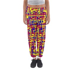Red, Yellow And Blue Pattern Women s Jogger Sweatpants by Valentinaart