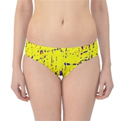 Yellow Summer Pattern Hipster Bikini Bottoms by Valentinaart