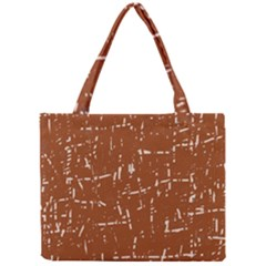 Brown Elelgant Pattern Mini Tote Bag by Valentinaart
