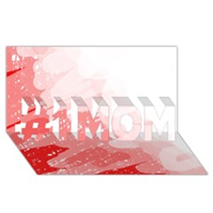 Red Pattern #1 Mom 3d Greeting Cards (8x4)