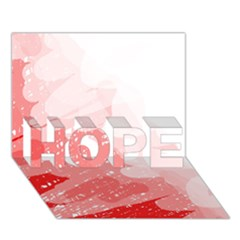 Red Pattern Hope 3d Greeting Card (7x5)  by Valentinaart