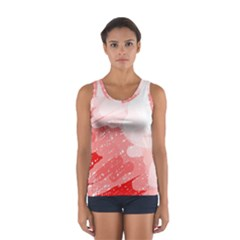 Red Pattern Women s Sport Tank Top  by Valentinaart