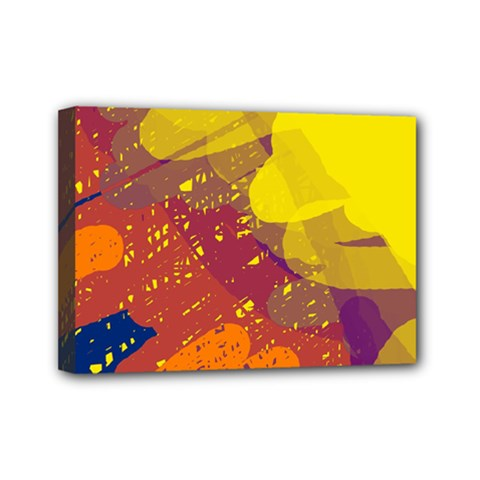 Colorful Abstract Pattern Mini Canvas 7  X 5