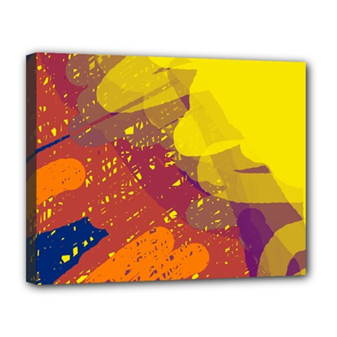 Colorful Abstract Pattern Canvas 14  X 11  by Valentinaart