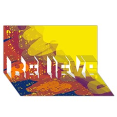 Colorful Abstract Pattern Believe 3d Greeting Card (8x4)  by Valentinaart