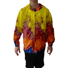 Colorful Abstract Pattern Hooded Wind Breaker (kids)