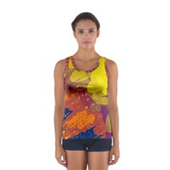 Colorful Abstract Pattern Women s Sport Tank Top  by Valentinaart