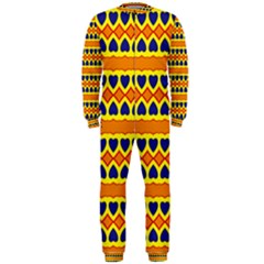 Hearts And Rhombus Pattern                                                                                          Onepiece Jumpsuit (men) by LalyLauraFLM