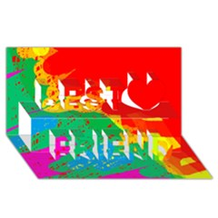 Colorful Abstract Design Best Friends 3d Greeting Card (8x4)