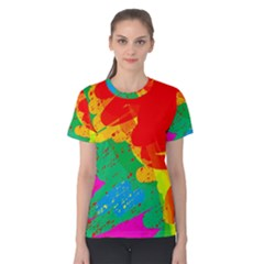 Colorful Abstract Design Women s Cotton Tee by Valentinaart