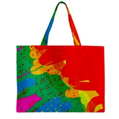Colorful Abstract Design Zipper Mini Tote Bag by Valentinaart