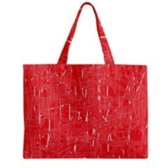 Red Pattern Zipper Mini Tote Bag by Valentinaart