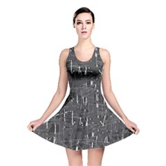 Gray Pattern Reversible Skater Dress by Valentinaart