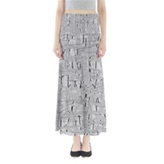 Gray Pattern Maxi Skirts by Valentinaart