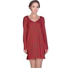 Red Pattern Long Sleeve Nightdress by Valentinaart