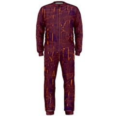 Purple Pattern Onepiece Jumpsuit (men)  by Valentinaart