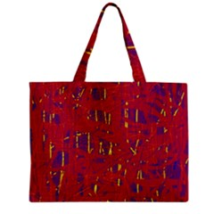 Red And Blue Pattern Zipper Mini Tote Bag by Valentinaart