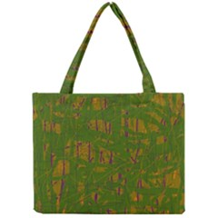 Green Pattern Mini Tote Bag by Valentinaart