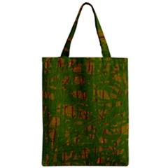 Green Pattern Zipper Classic Tote Bag by Valentinaart