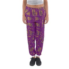Purple Pattern Women s Jogger Sweatpants by Valentinaart
