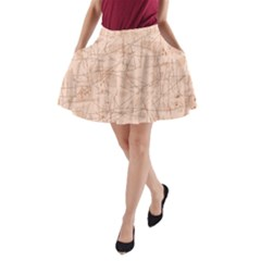 Elegant Patterns A Line Pocket Skirt