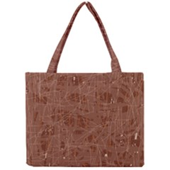 Brown Pattern Mini Tote Bag by Valentinaart