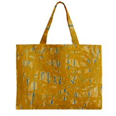 Yellow Pattern Mini Tote Bag