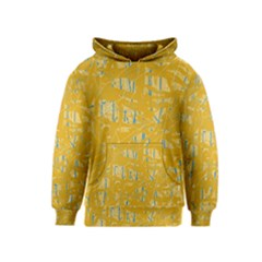 Yellow Pattern Kids  Pullover Hoodie
