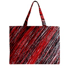 Red And Black Elegant Pattern Zipper Mini Tote Bag by Valentinaart