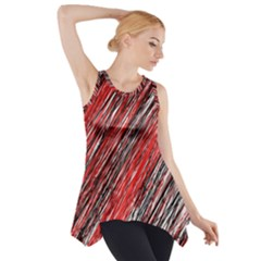 Red And Black Elegant Pattern Side Drop Tank Tunic by Valentinaart