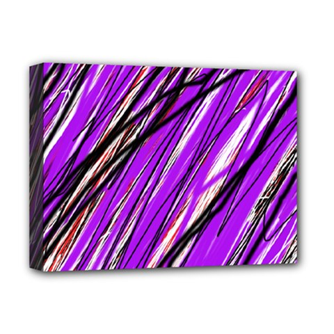 Purple Pattern Deluxe Canvas 16  X 12   by Valentinaart