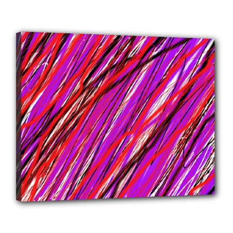 Purple Pattern Canvas 20  X 16  by Valentinaart