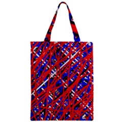 Red And Blue Pattern Zipper Classic Tote Bag by Valentinaart