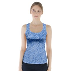 Blue Pattern Racer Back Sports Top by Valentinaart