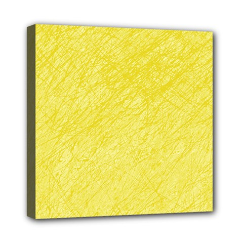Yellow Pattern Mini Canvas 8  X 8  by Valentinaart