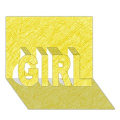 Yellow Pattern Girl 3d Greeting Card (7x5)  by Valentinaart