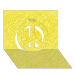 Yellow Pattern Peace Sign 3d Greeting Card (7x5)  by Valentinaart