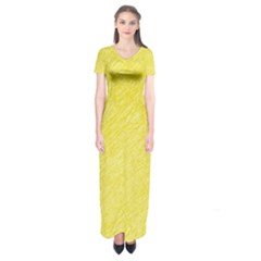 Yellow Pattern Short Sleeve Maxi Dress by Valentinaart