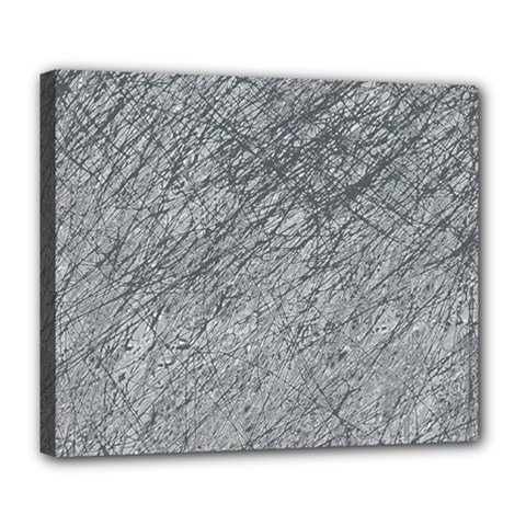 Gray Pattern Deluxe Canvas 24  X 20   by Valentinaart