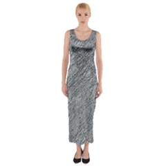 Gray Pattern Fitted Maxi Dress by Valentinaart