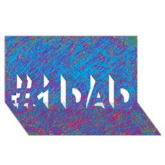 Blue Pattern #1 Dad 3d Greeting Card (8x4)