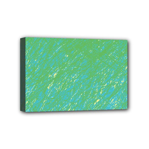Green Pattern Mini Canvas 6  X 4  by Valentinaart