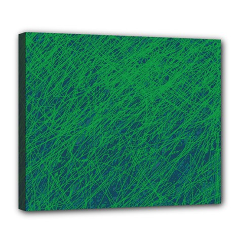 Deep Green Pattern Deluxe Canvas 24  X 20   by Valentinaart