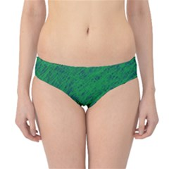 Deep Green Pattern Hipster Bikini Bottoms by Valentinaart