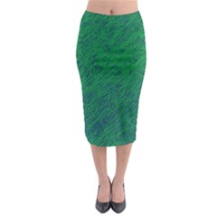 Deep Green Pattern Midi Pencil Skirt by Valentinaart