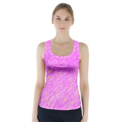 Pink Pattern Racer Back Sports Top by Valentinaart