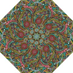 Colorful Hippie Flowers Pattern, Zz0103 Hook Handle Umbrella (large) by Zandiepants