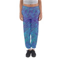 Blue Pattern Women s Jogger Sweatpants by Valentinaart